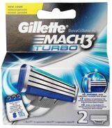 GILLETTE MACH3 Turbo 2 шт.